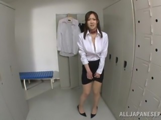 japanese teacher gets her big boobs played with