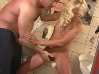 blonde milf anal in wc