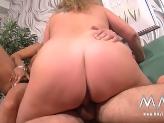 Busty skilled hookers have steamy mature 3 some with four eyed geek