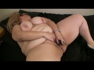 Fat Obese BBW Ex GF masturbating her Wet Pussy