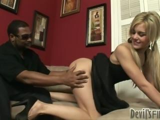Vanilla pussy of Misti Love B tastes good for black stud