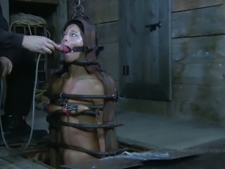 Black haired wild bitch London River experienced super hard BDSM session ever