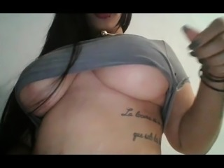 Curvy Latina Rubbing Her Pussy