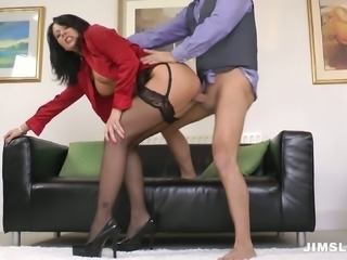 Lustful MILF Carly G is riding hard dick frantically