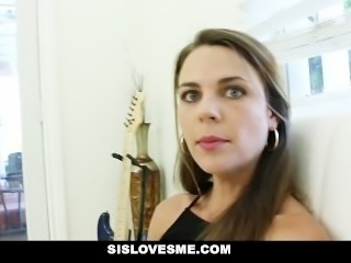 SisLovesMe - Step-Sis Wakes Up To A Mouth Full Of Cock