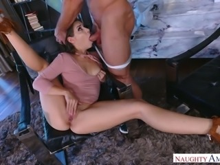 Dark haired sweet MILF Cassidy Klein gets her kitty fingered and fucked hard