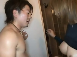 Stacked Japanese cutie with a wonderful ass loves to get dr