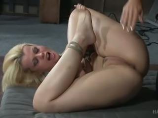 Here you've got hot bondage video of horny blonde Nadia White