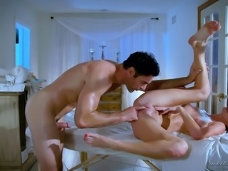 Silvia knows how to give her customers a special kind of a massage