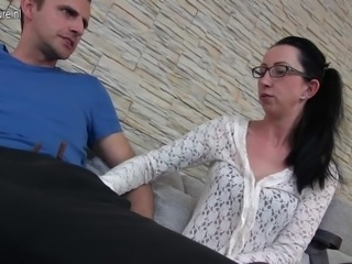 German housewife fucking and sucking big cock