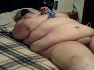 Tied up ugly fat bitch is waiting for punishment