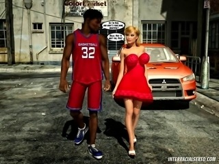 Ghetto Pussy Riders Interracial 3D