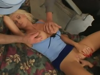 Busty blonde housewife is screwed bad in front of her husband