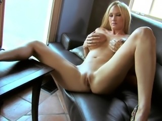 Insanely Busty Blonde Shows Her Beautiful Big Boobs As She Masturbates