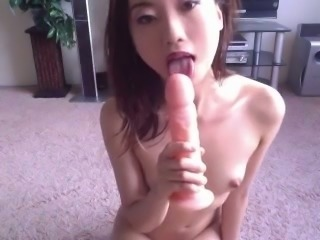 Skinny Asian skank playing with tight pink pussy in amateur video