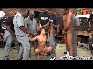 Bukkake faced slut bbc