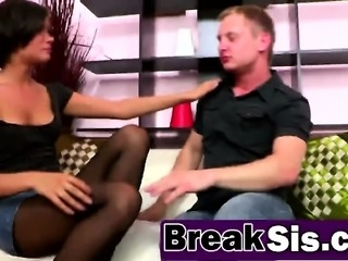 Alluring bitch Kimberly Nutter fucked hard by her stepbro