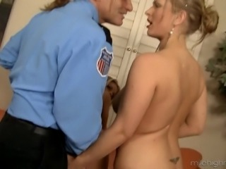 Amazing threesome with a police officer and two sluts Jessa and Vicky