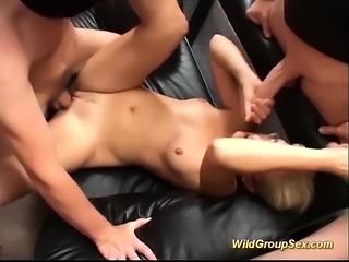 bukkake orgy with german chicks