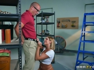August is working with Sean, but it seems all her tasks involve her going up...