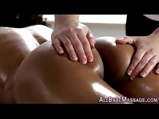 Ebony lez tastes masseuse