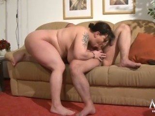 BBW whore fucking dirty in reverse cowgirl position