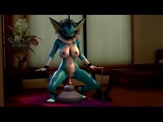 [SFM] Vaporeon Orgasm (Extended Cut)