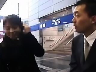 Ravishing Japanese babe with big tits gets taken home and f