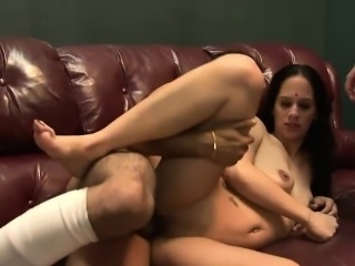 Hot gangbang starring a luscious Indian babe