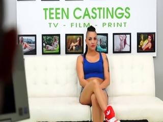 Hardfucked casting beauty loves tasting cum