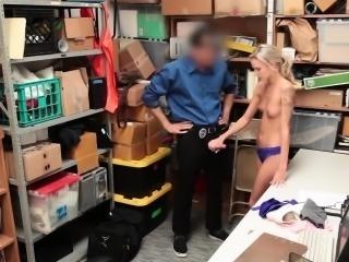 Emma Hix giving the LP Officers cock a blowjob