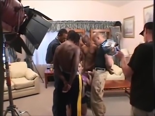 gen p interracial anal redhead gangbang