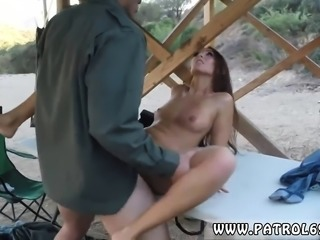 Cop bondage Brunette gets pulled over for a cavity search an