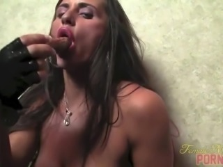 Brunette With Big Tits Masturbates With Vibrator