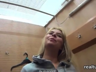 Glamorous czech teen gets tempted in the supermarket and rod