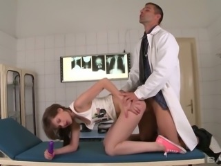 Lewd patient Liona Shy needs a full scale investigation of her lady holes
