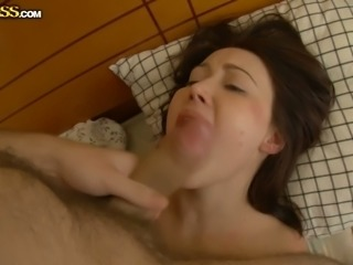 Cute Russian babe fucked in the mouth after anal sex