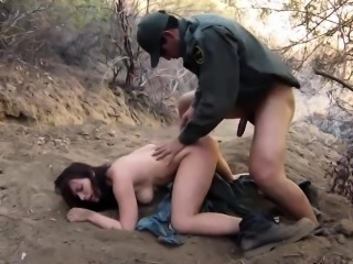 Cop strap on Kayla West was caught lusty patrool during bord