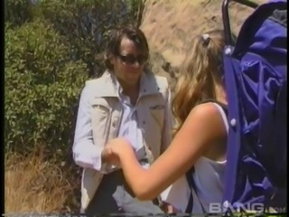 Wanking guy takes a hiker home and fucks her cute asshole