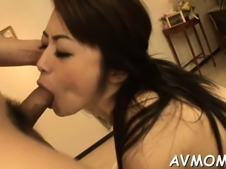 Milf oriental acquires fingered and drilled