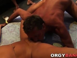 Mature group fucked slut