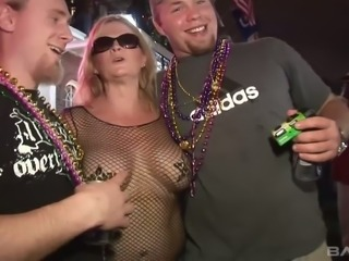 Jenna is a party slut for sure and she loves to show off her tits