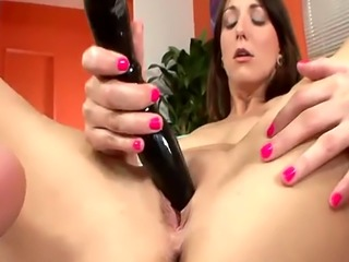 Giant vibrator and dildos for babes