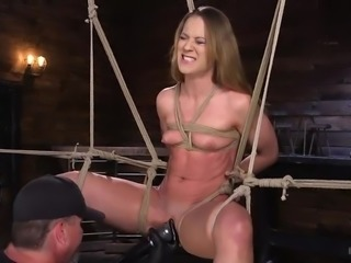 Cheyenne is tied up really nice here, and her pussy is getting an unrelenting...