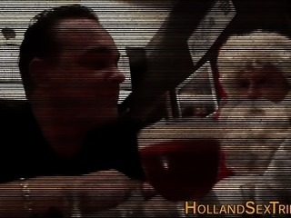 Dutch hooker bangs santa