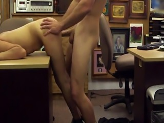 Brunette dancing College Student Banged in my pawn shop!