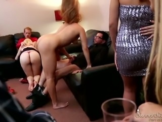 Swinger friends get wild after party in hardcore orgy