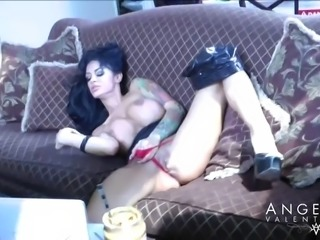 Angelina Valentine is a busty sex goddess who loves o masturbate