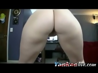 Brunette MILF shows you her holes