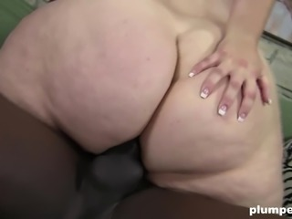 Fat blondie has her giant chest dicked with some black man-meat